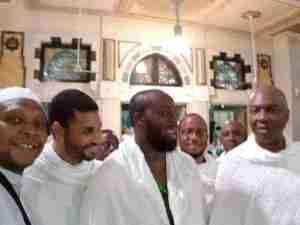 Senate President, Bukola Saraki And His Son Spotted In Mecca For The Hajj (Photo)
